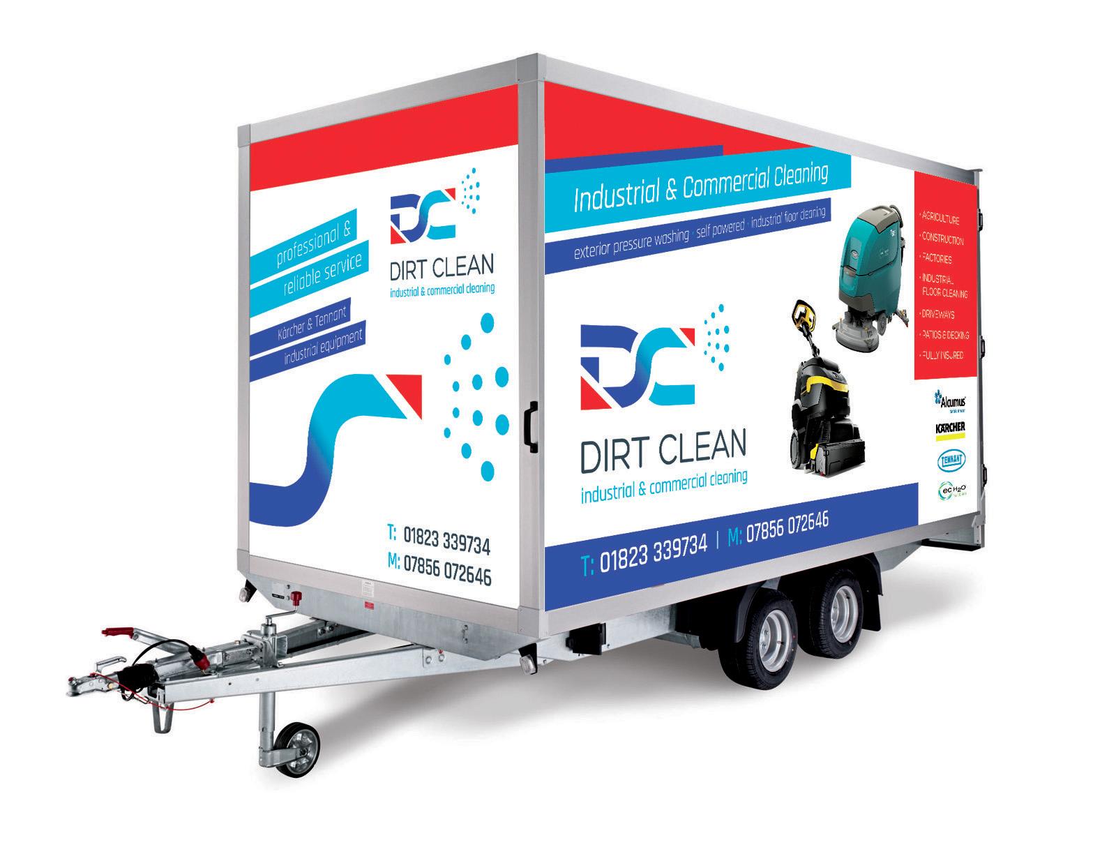 Dirt Clean box trailer graphics