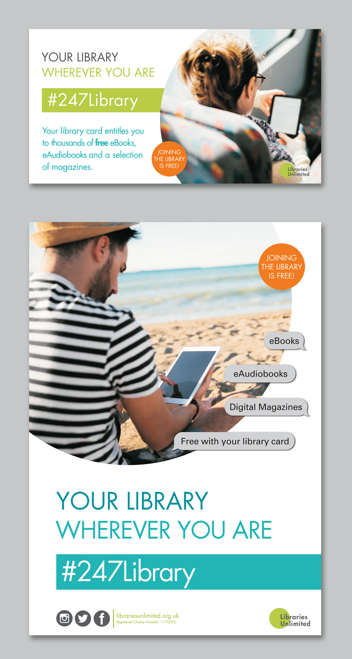 Libraries Unlimited web ads